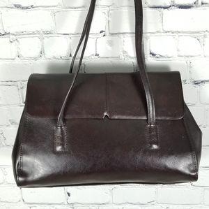 ALFANI | leather flap & snap close shoulder bag